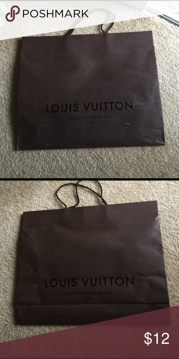 "Large Louis Vuitton paper bag 18.75""x15.25""x4.75"" was holding the LV bag. Please Check condition on photo. Louis Vuitton Bags"