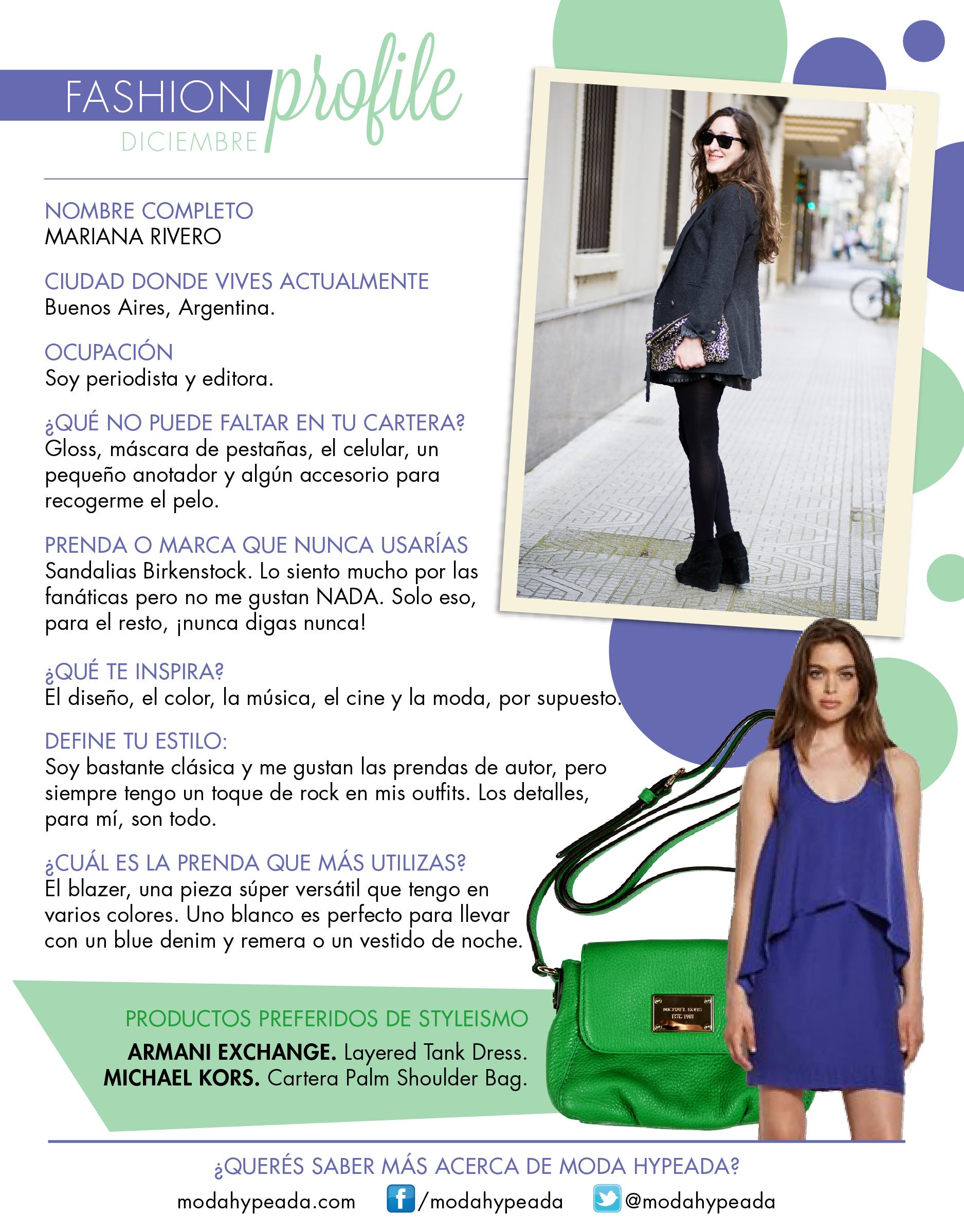 #FashionProfile de Diciembre 2013: Conocé más sobre Mariana Riveiro, periodista de OHLALÁ! y creadora de ModaHypeada.