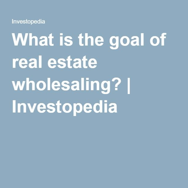 real estate wholesaling business plan