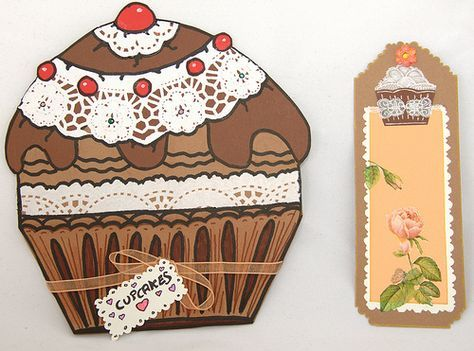 Cupcake, Tarjeta y Marcapáginas