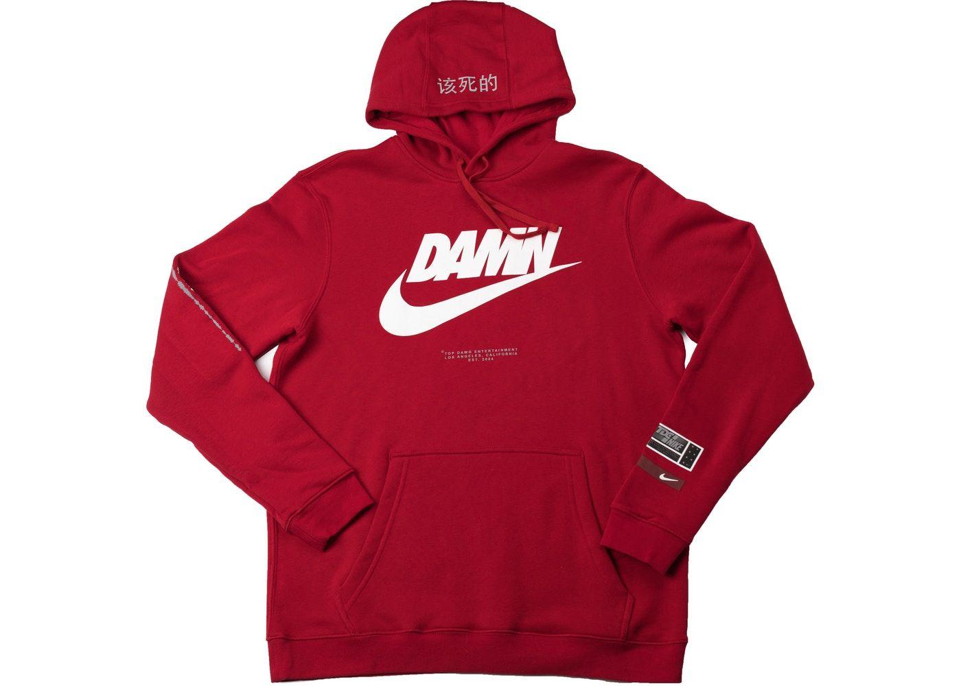 Tde X Nike Swoosh Logo Tde Red In 2021 Nike Swoosh Logo Red Hoodie Hoodies [ 1000 x 1400 Pixel ]
