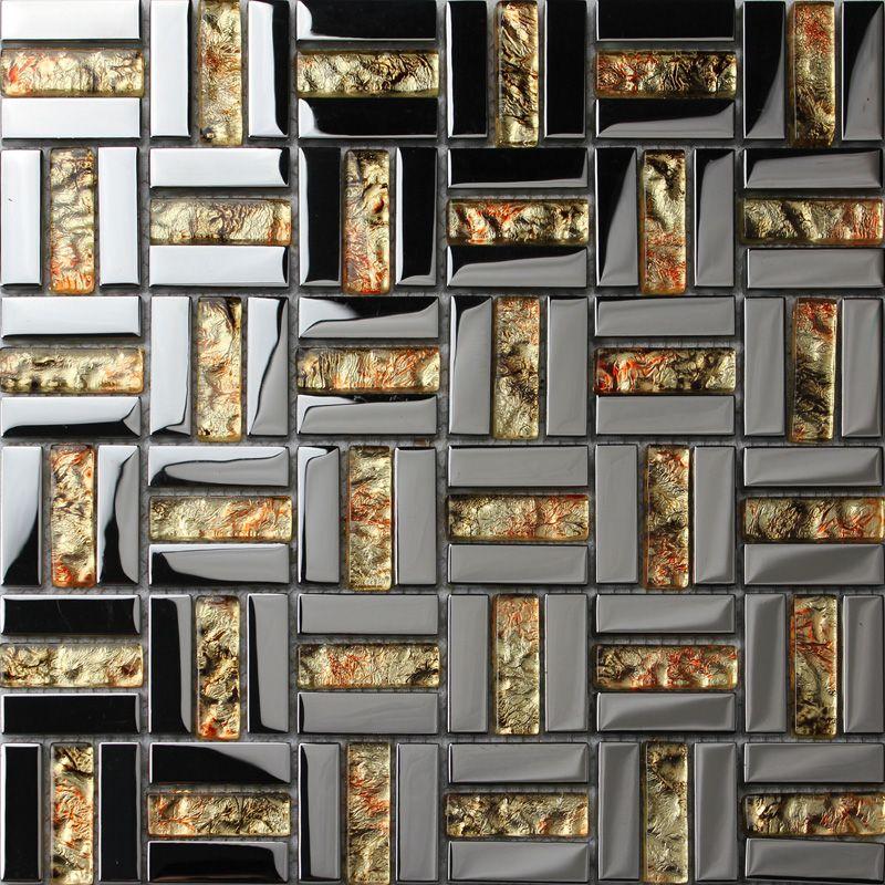 Crystal Mosaic Tile Sheets Plated Gl Wall Tiles Kitchen Backsplash Grid Mosaics Bathroom Shower