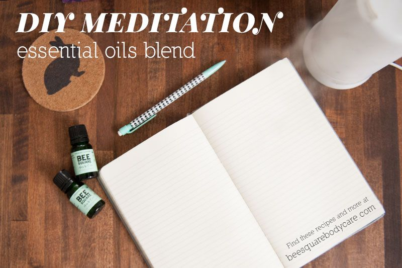 DIY Essential Oil recipe for meditation, prayer, quiet