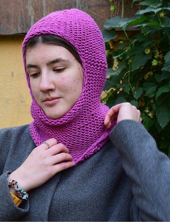 0ee6b4cbfc5 Balaclava ski mask knit wool balaclava hood women hand knit hat ...