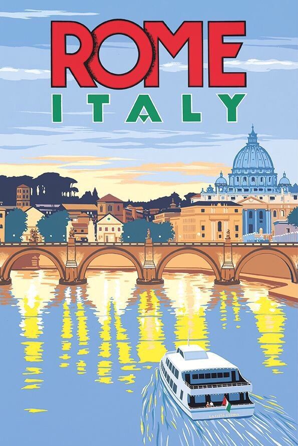 Rome Travel Poster Vintage Travel Posters Retro Travel Poster Travel Posters