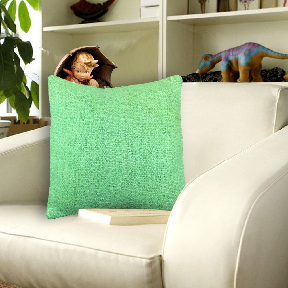Decorative Green Throw Pillows Covers 16x16 Kilim Pillow Cover