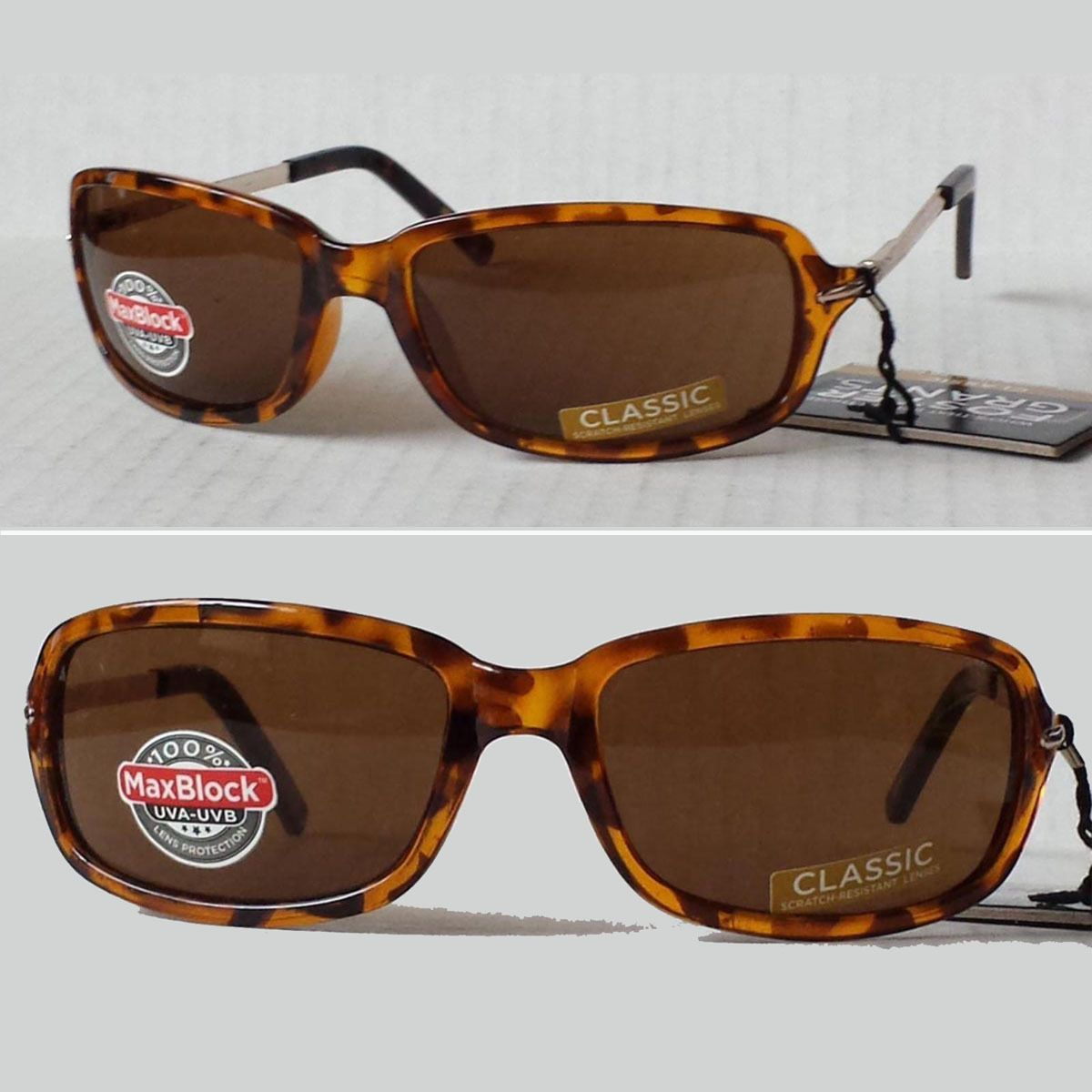 8c6730b7f7ddd Foster Grant  women sunglasses brown rectangular IMPRESSION with metal side  bars visit our ebay store