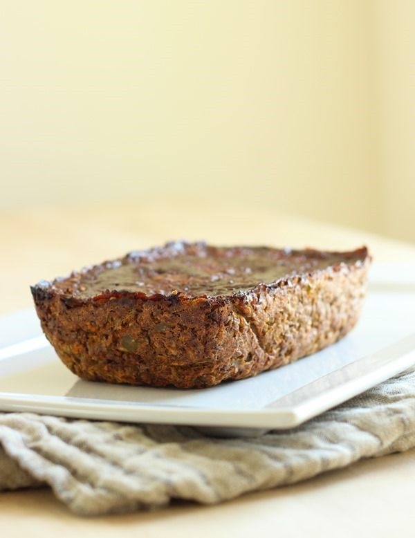 Awesome idea for a nice Sunday dinner!  Lentil Mushroom Loaf #vegetarian #vegan #meatless #dinner