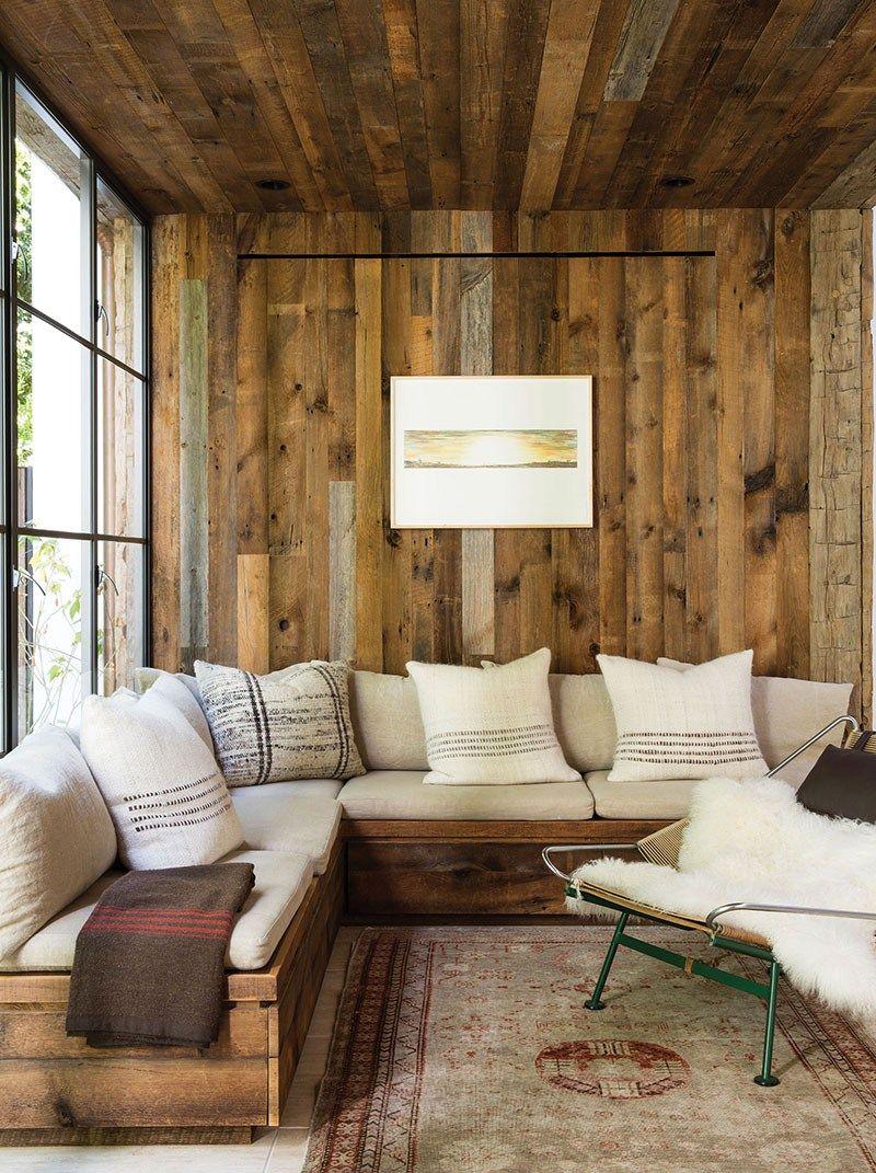 Rustic Modern Sofa Designs | Source: Jenni Kayne Home via C Magazine