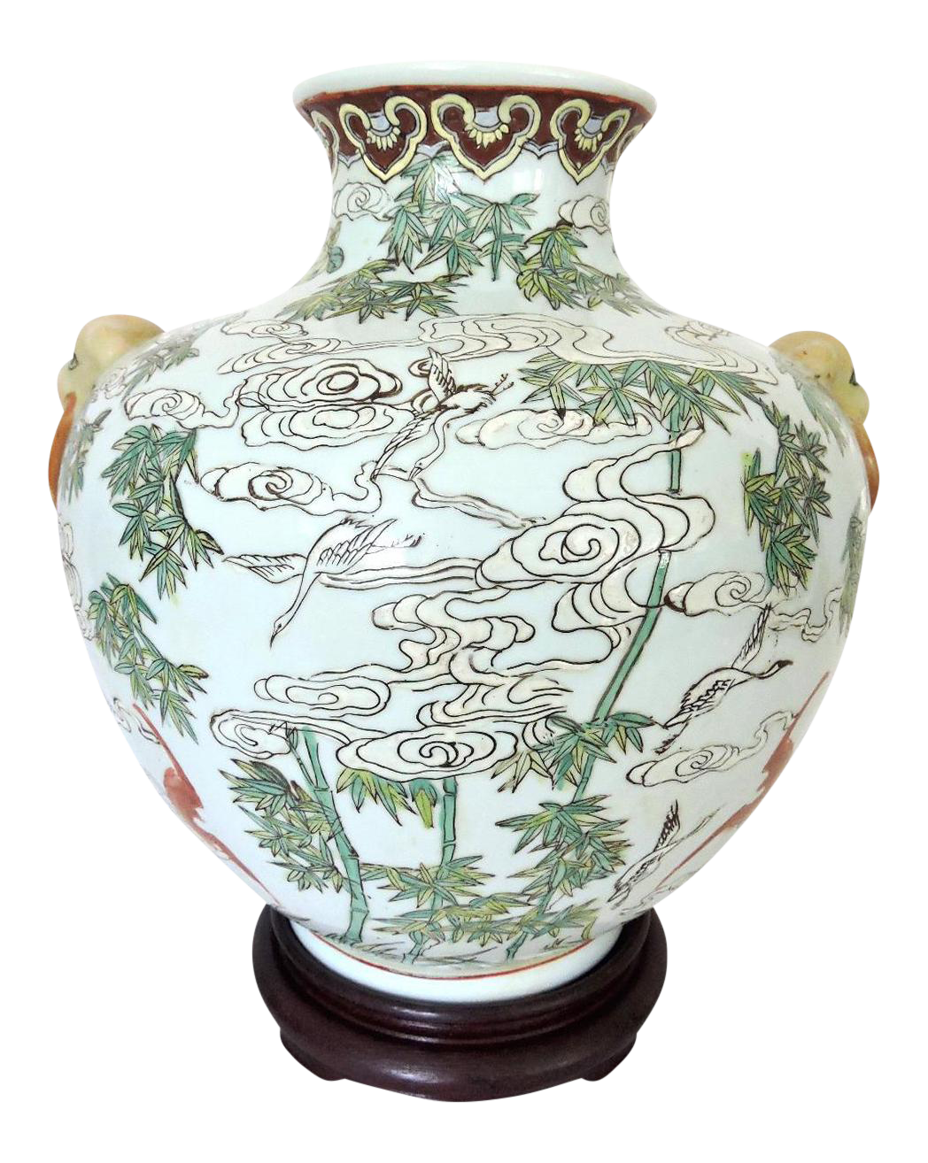 Chinese 39 white clouds 39 vase stand on price - Decoration de grand vase transparent ...