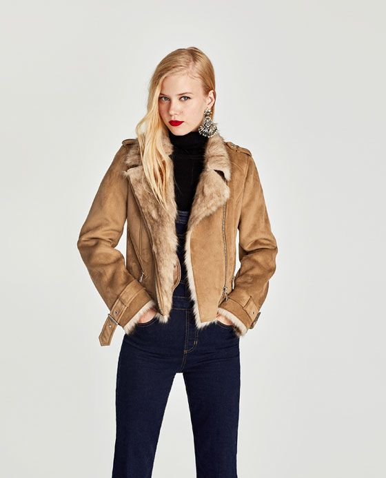 29e2e235 Image 3 of CONTRASTING FAUX SUEDE JACKET from Zara | Wish list in ...