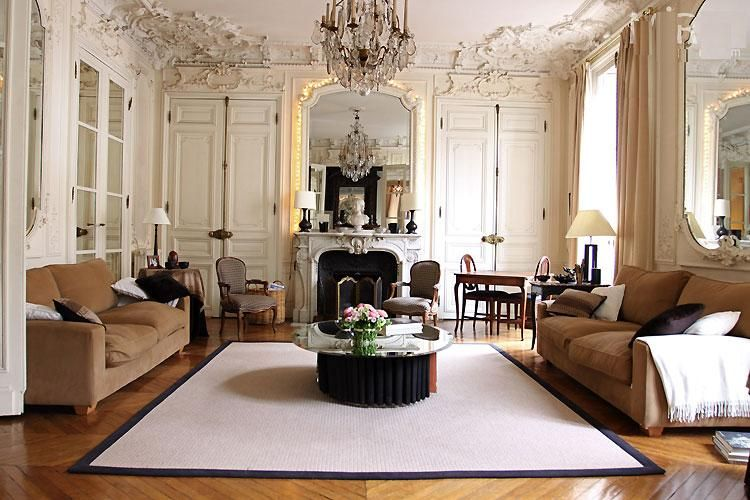 Brown Tone In Couch With Hardwood Floor French Living Rooms Living Room Decor Country French Country Living Room French style living room ideas
