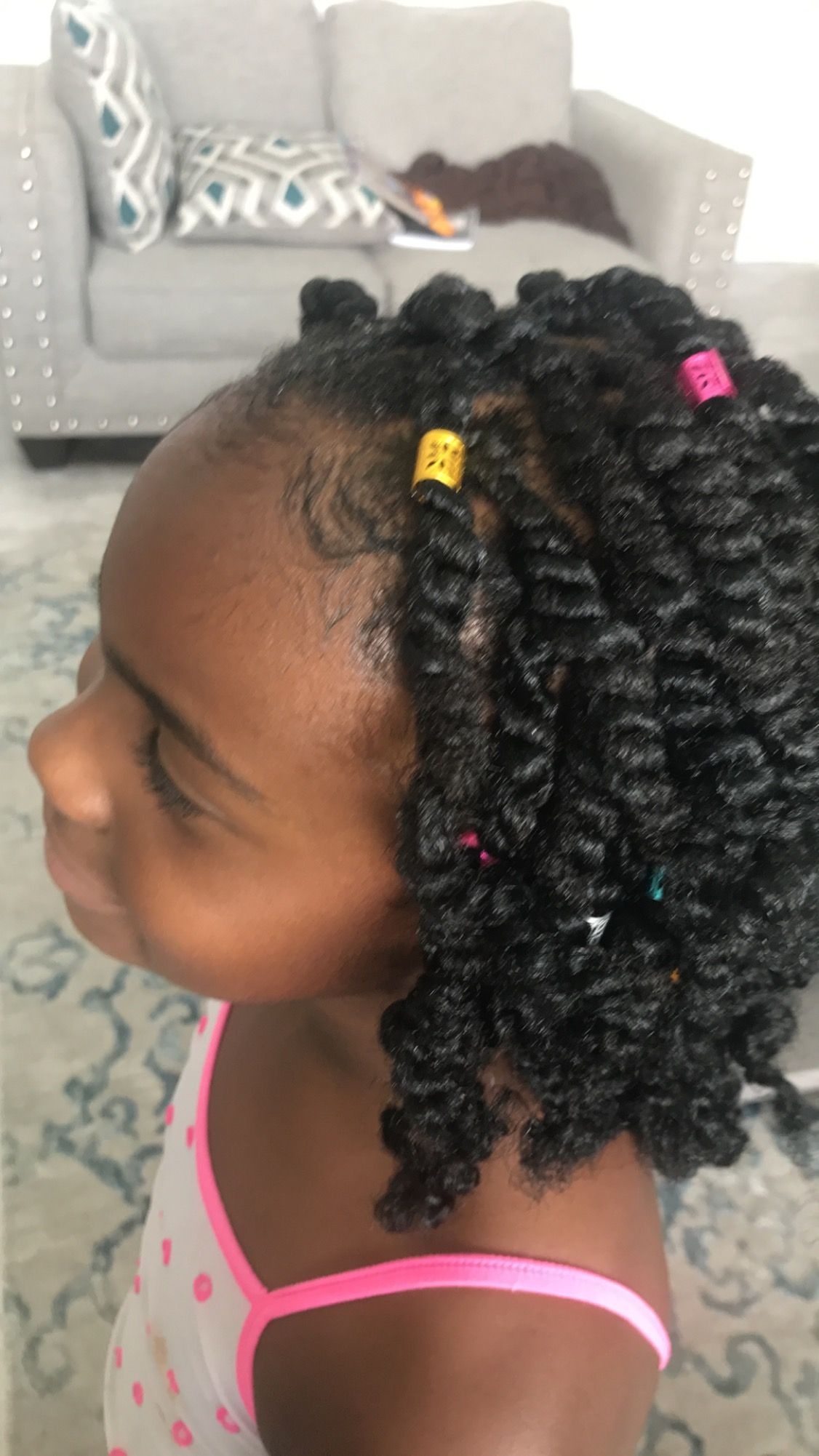 spring twisted for little girls. | little girls hair styles