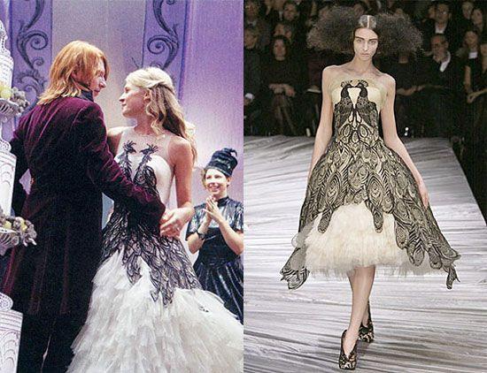 Harry Potter Wedding Dress On Fleur Delacour Inspired By Alexander Mcqueen