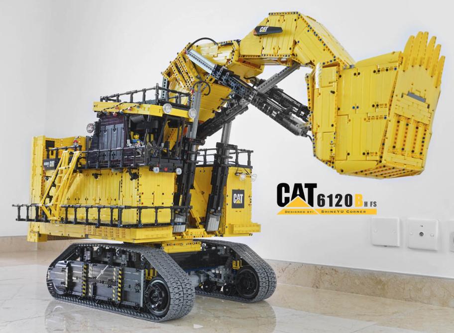 684aa72298c955 Lego Technic Caterpillar 6120B Mining Shovel RC   Lego   Lego truck ...