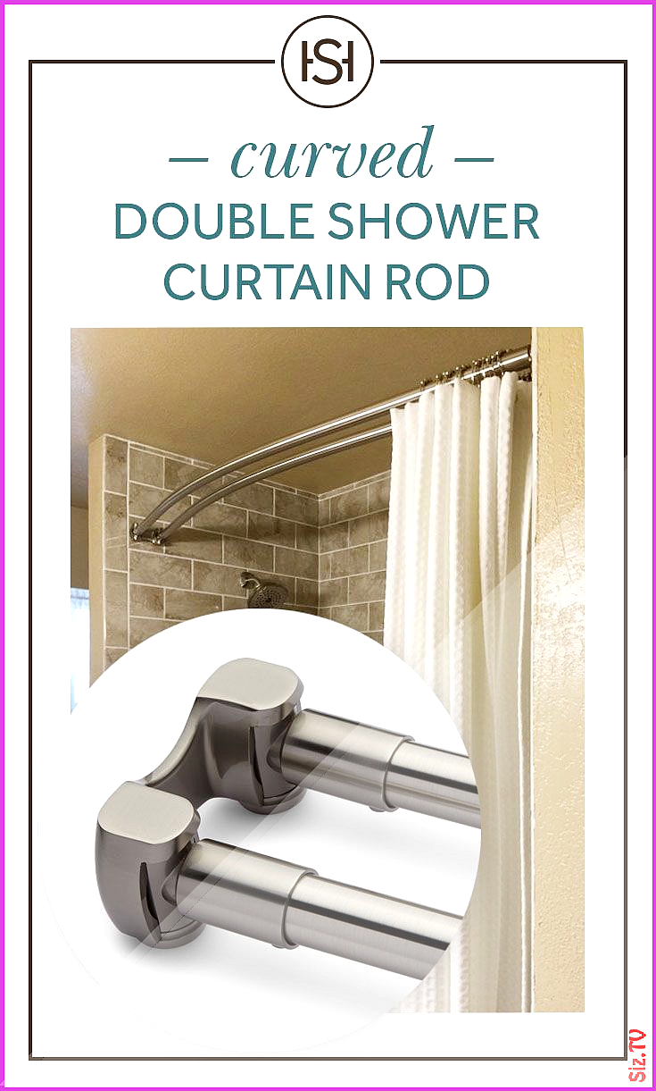 Curved Double Shower Curtain Rod Curved Double Shower Curtain Rod