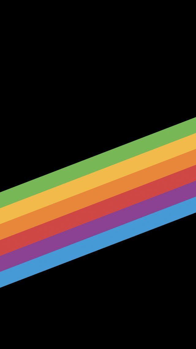 iPhone X wallpapers, iPhone 8, iOS11, rainbow, retina, 4k ...