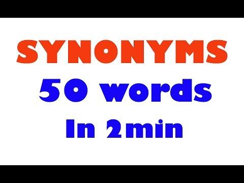 Synonyms In English Learn Vocablary Prepare For English Engl English Words