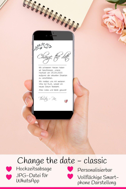 Change The Date Classic Elektronische Absage Etsy In 2020 Diy Hochzeit Planen Hochzeit Hochzeitseinladung