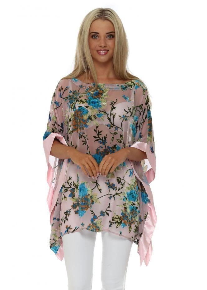 86d2491d8b6 JAYLEY Baby Pink Silk Devore Kaftan Top | sewing tutorials in 2019 ...