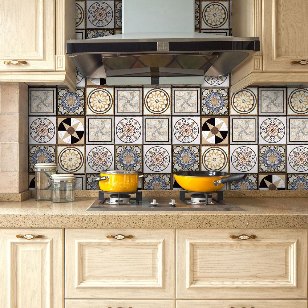 Yanqiao Traditional Mexican Talavera Tiles Sticker Bathroom