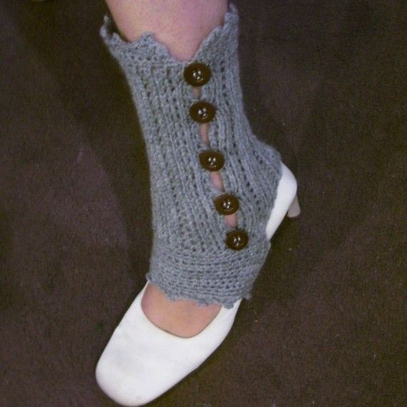 Download Now Crochet Pattern Knit Look Crocheted Spats Ankle