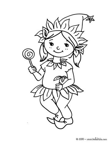 costumes for girls coloring pages elf carnival costume