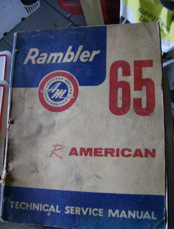 SALE 1965 AMC Rambler Technical Service by LovelyOldeTreasures, $27.20