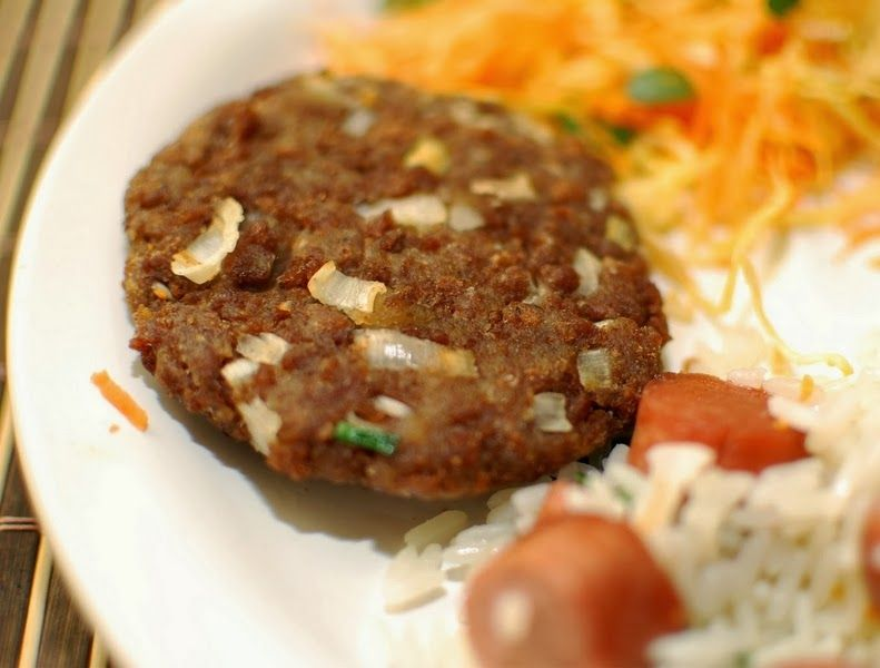 Cantinho+Vegetariano:+Hambúrguer+de+Soja+com+Alho-Poró+(vegana)