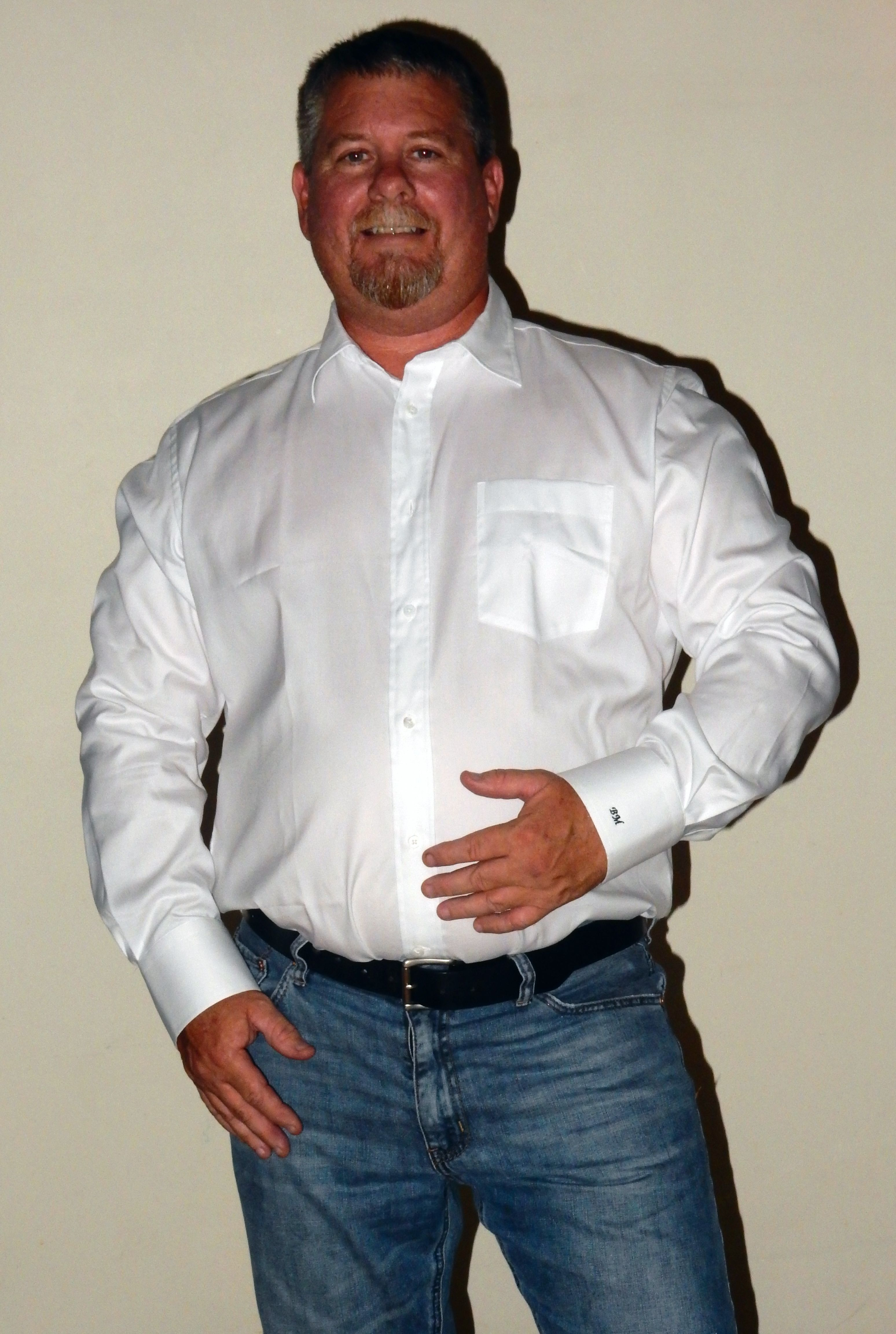 T4L Review - Custom White Shirt  Configure your own at http://www.tailor4less.com/en/men/custom-dress-shirts/