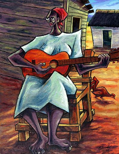 """""""Negra con Guitara"""" by Roel Caboverde Yacer"""
