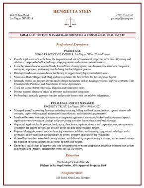 Certified Paralegal Resume Sample  HttpResumesdesignCom