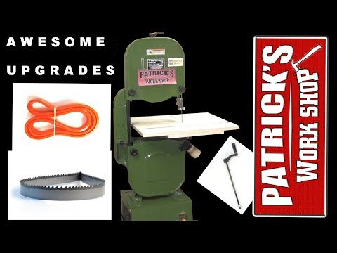 Awesome bandsaw upgrades youtube tools and homemade this video is all about upgrading my 14 inch bandsaw i install new tiresa new longer tension handle and a fresh new carter 3 tpi blade and i show how i greentooth Choice Image
