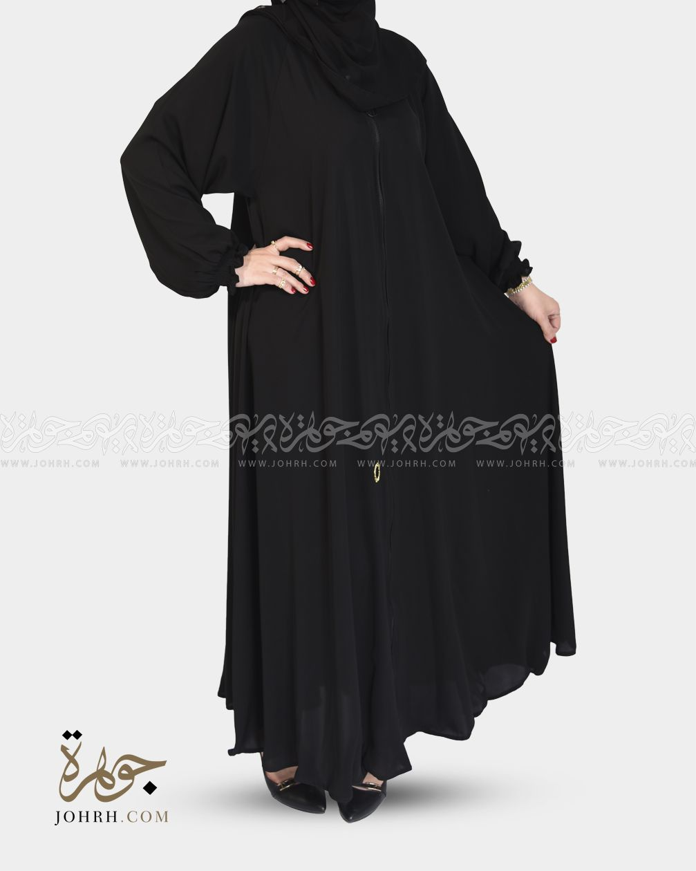 1424 عباية بلاك بيري كلوش عباءة جوهرة Long Sleeve Dress Dresses With Sleeves Fashion