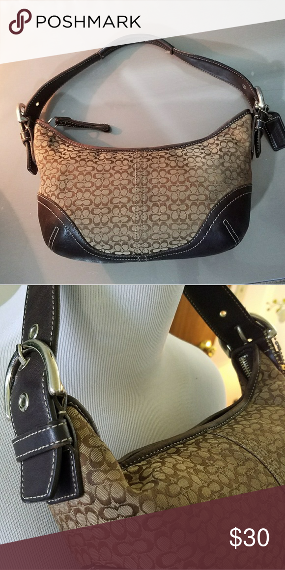 ... best price final price dropauthentic coach small hobo bag coach small  signature hobo bag. coach 333952084ecfe
