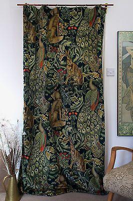 William Morris Co Forest Velvet Velvet Lined Heavy Door