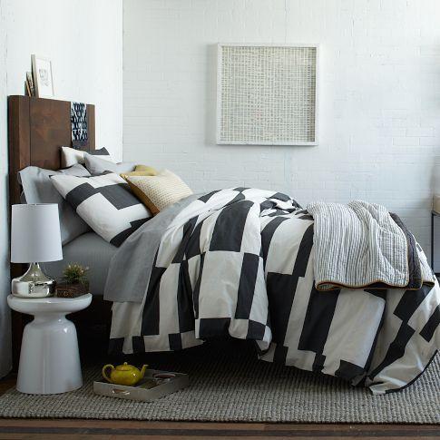 Offset Stripe Layered Bed Set   west elm