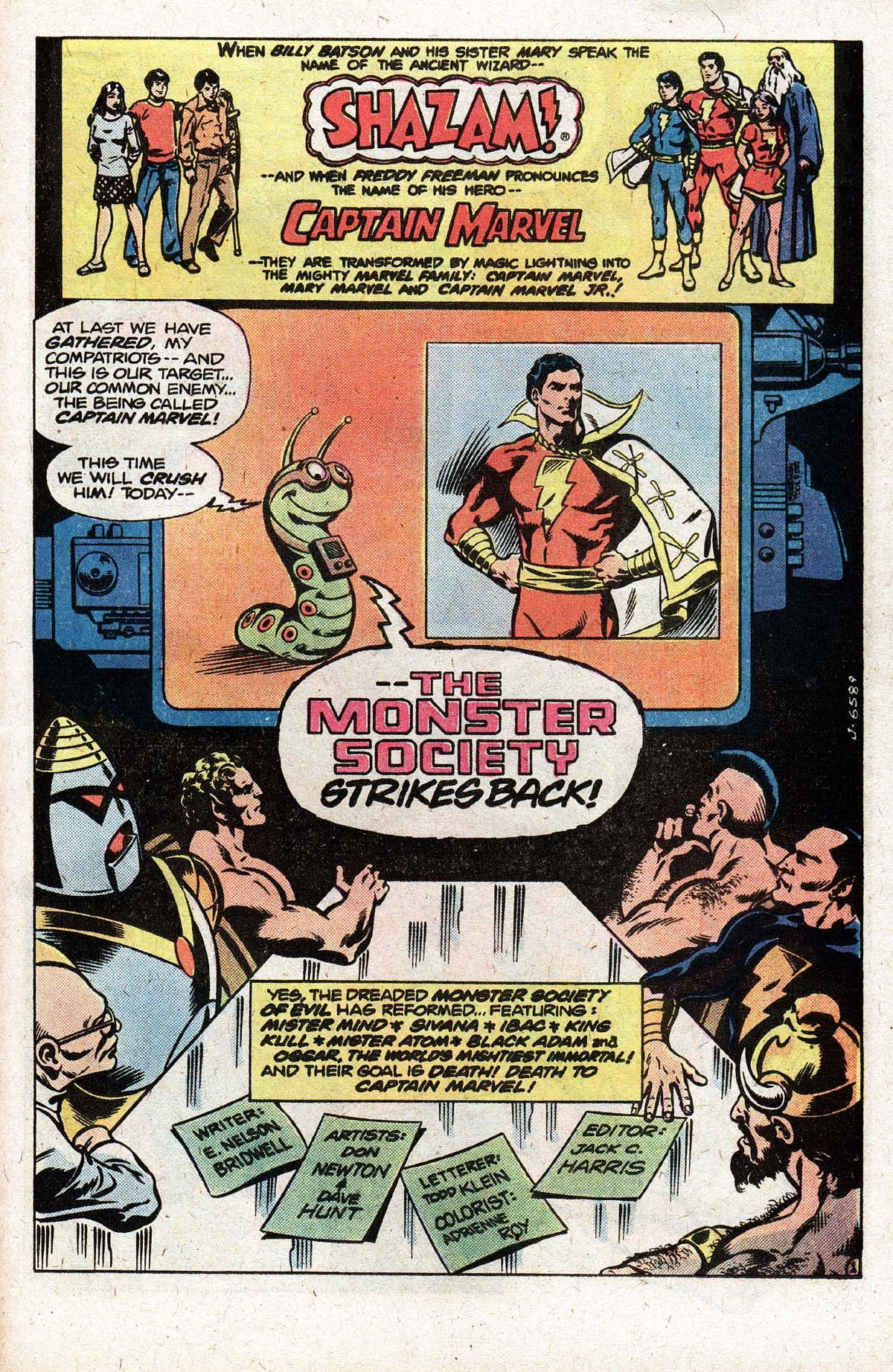 captain marvel family villains, monster society of evil, don newton