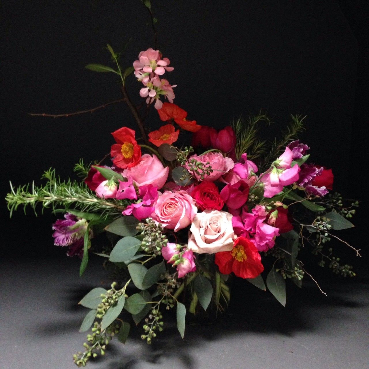 50 Shades Of Pink By The Black Rose 13500 Floral Boquets