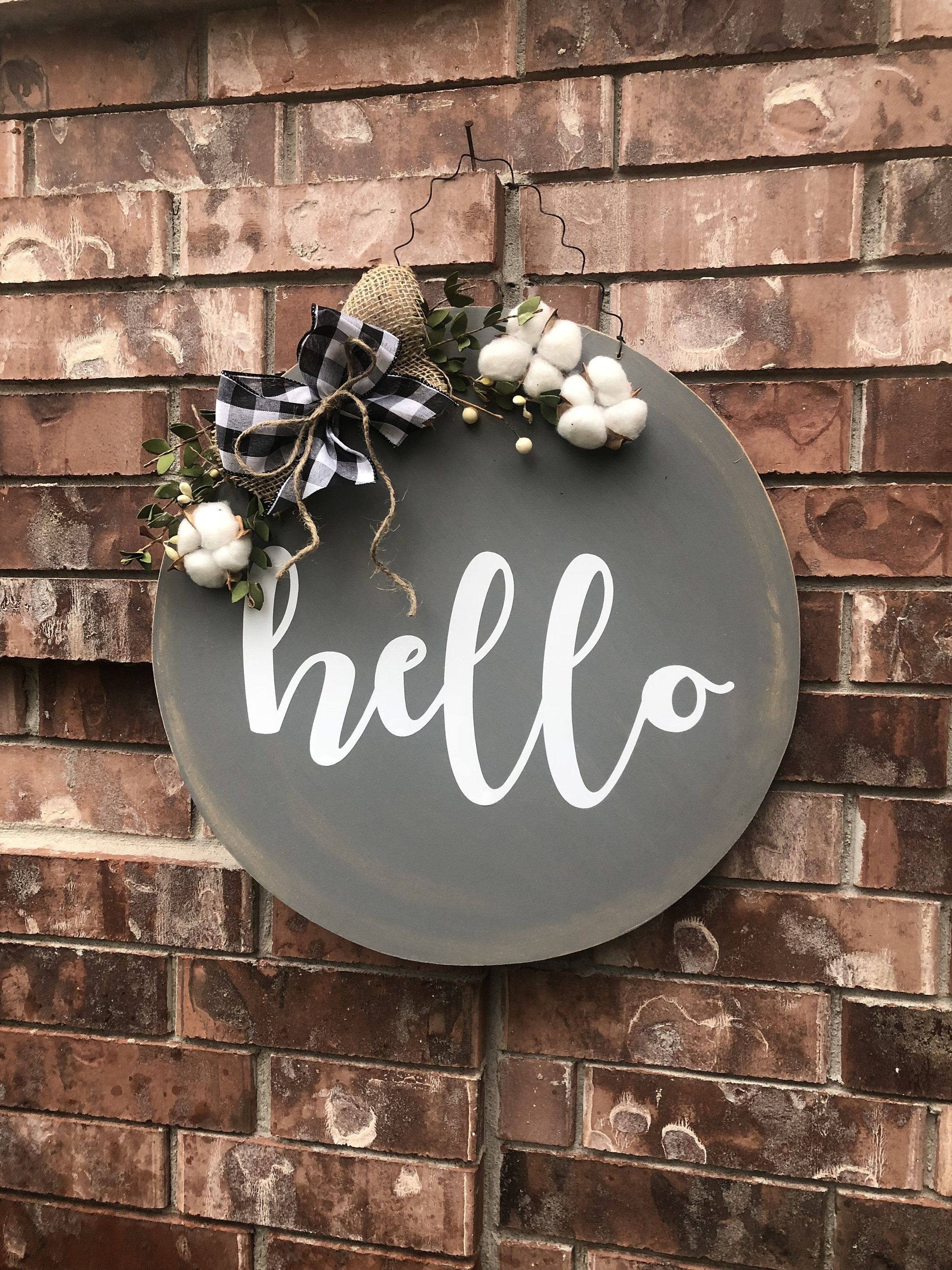 Fall Hello Door Hanger