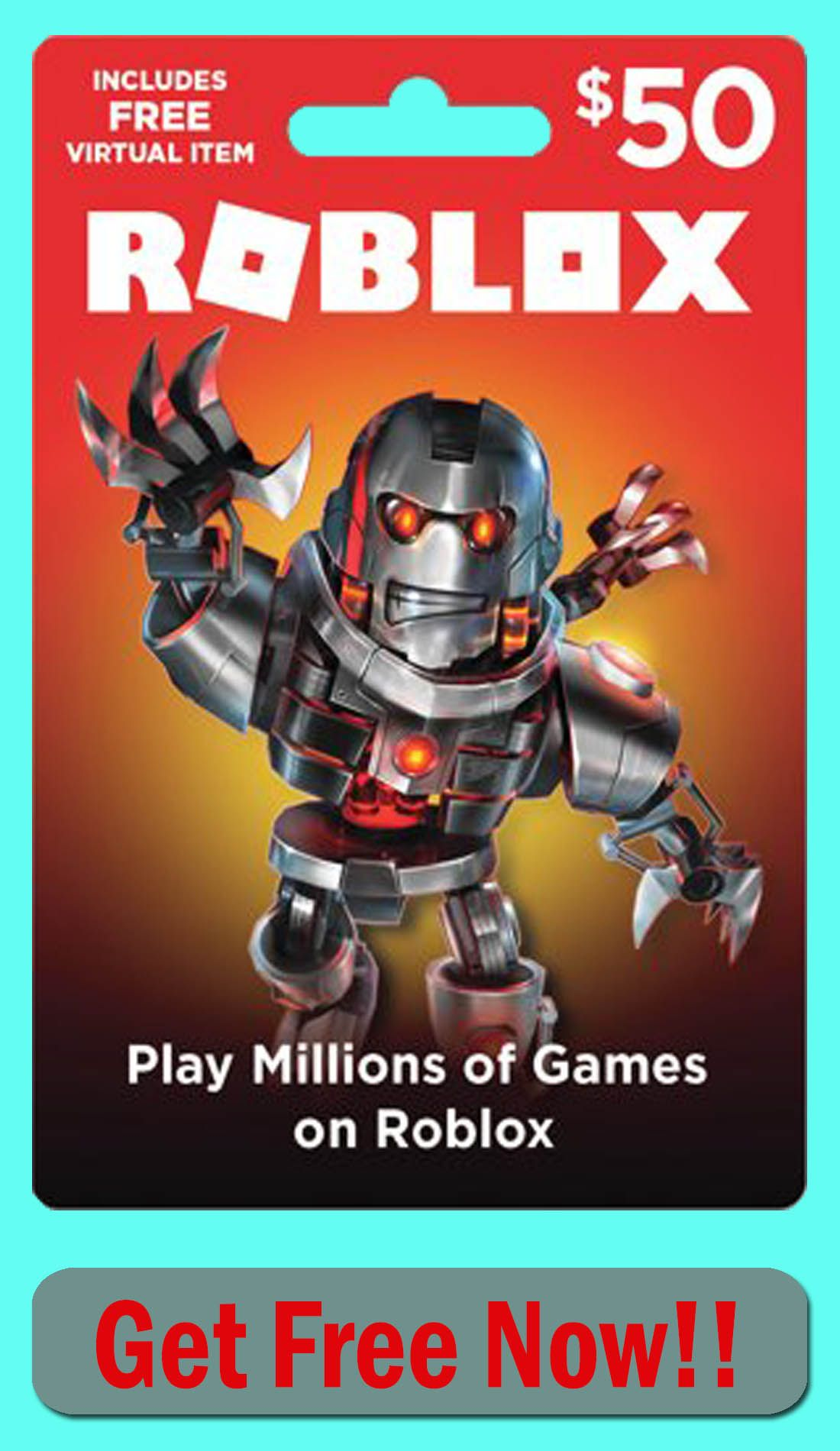 Get free 50 roblox gift card code roblox gifts roblox