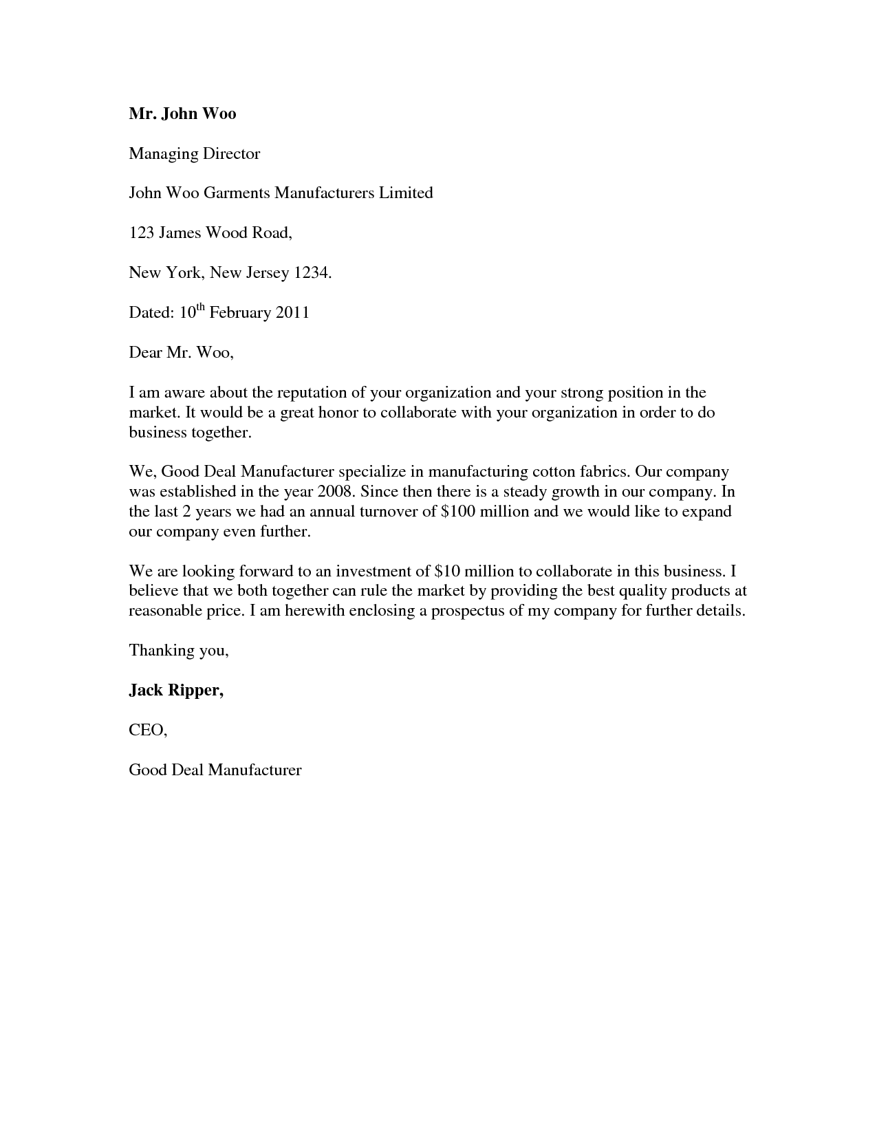Covering Letter Example Standard Cover Letter With CvSimple ...
