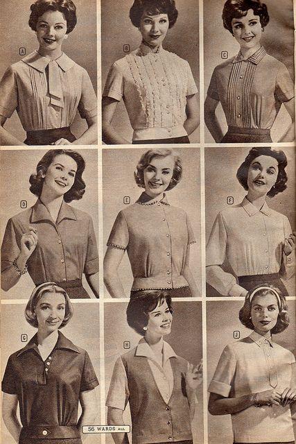Tops 1958 Montgomery Ward Vintage Galore 1950s Fashion Vintage