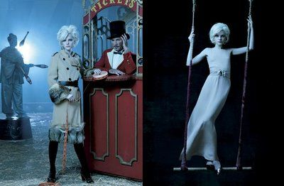 Circus Shoot by  Laspata DeCaro with Jessica Stam and Gabriel Aubrey