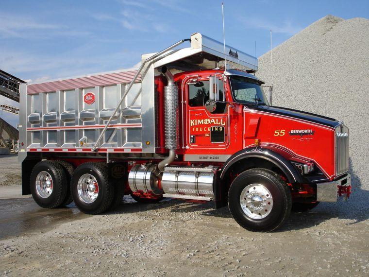trucks | Front Left Kimball Kenworth Dump Truck Picture ... Kenworth Dump Trucks Pics