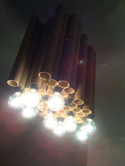 Reclaimed cardboard tube diy chandelier diy chandelier cardboard reclaimed cardboard tube diy chandelier aloadofball Images