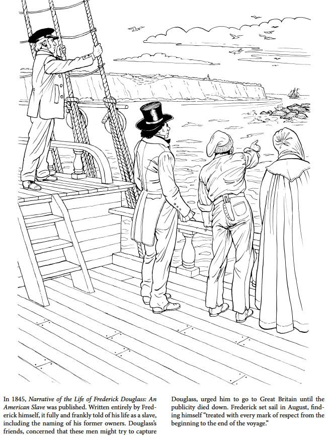 Frederick Douglass Coloring Book Dover Publications | Social Studies ...