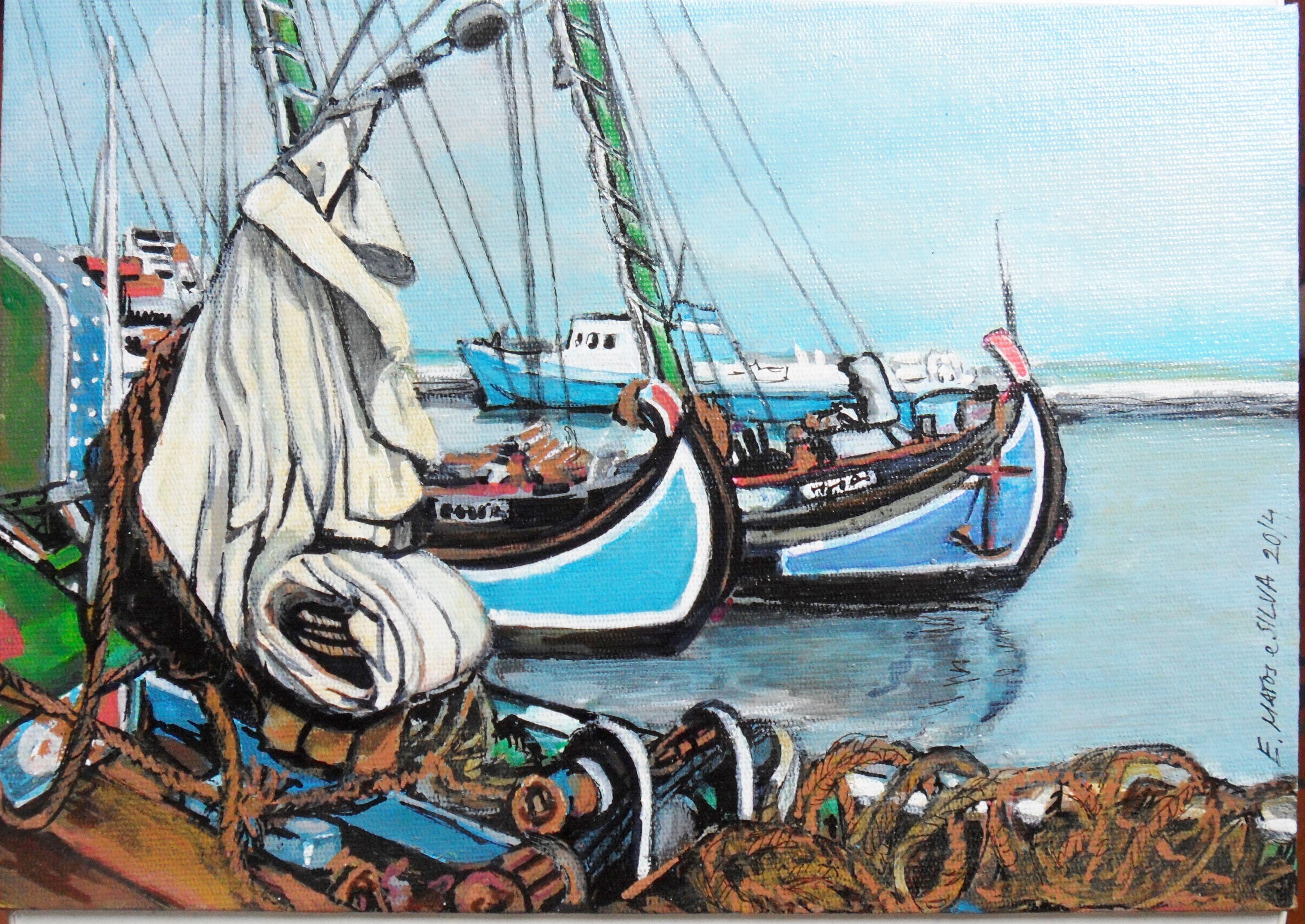 Barcos no Tejo Lisboa
