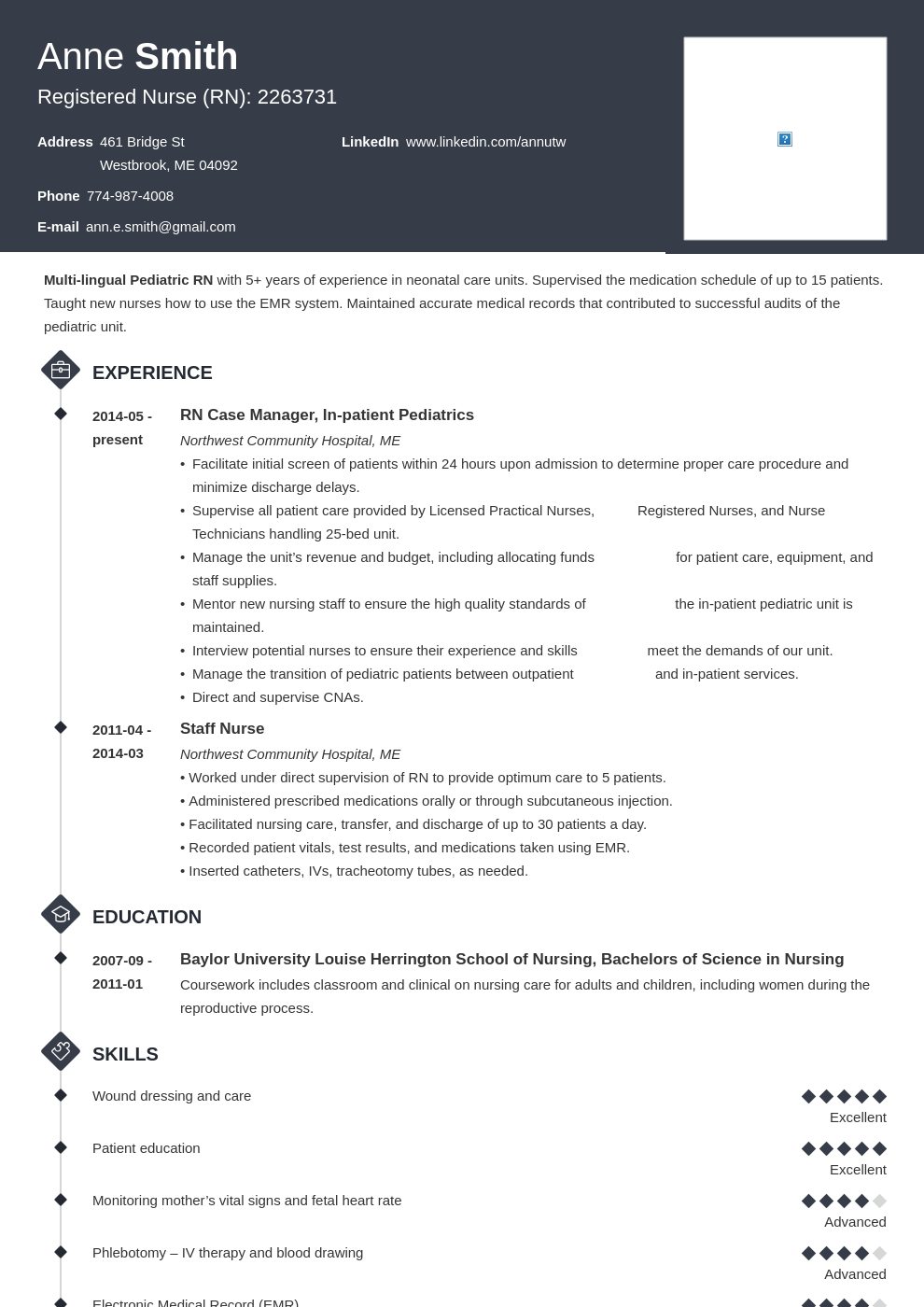 nursing resume examples template diamond in 2020 Nursing