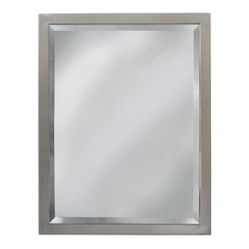 Allen Roth X Brush Nickel Rectangular Framed Bathroom Mirror At Lowe S The Quality Finish Perfectly Fabricated